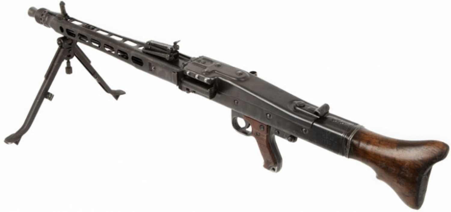 WWII German 8mm MG42 General-purpose machine gun that fired 20 rounds per second
