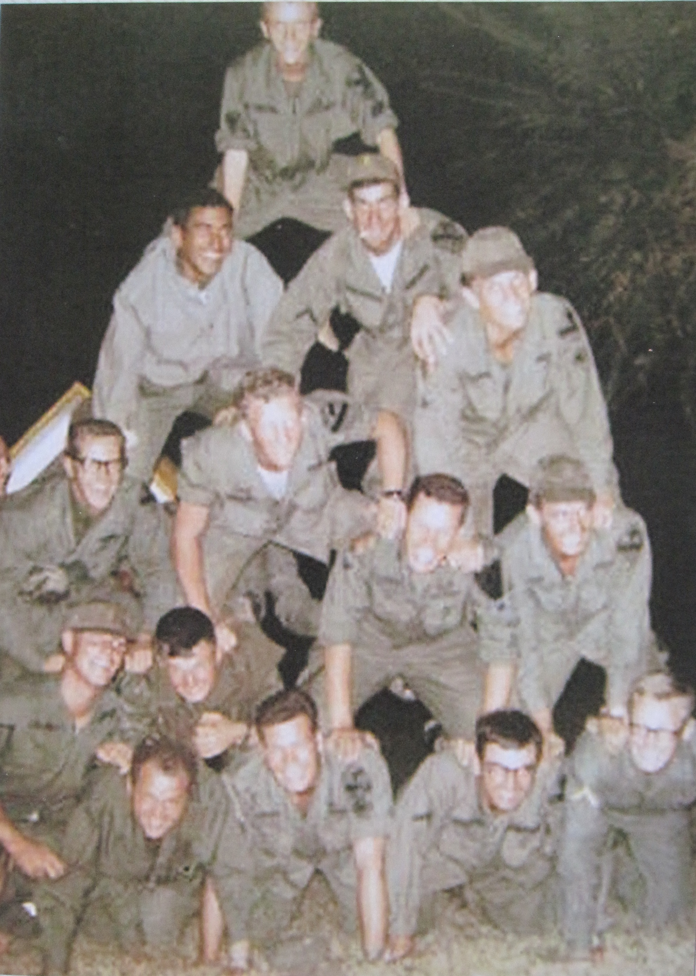 LRRP Graduation, Camp Radcliff. I'm second from top at left