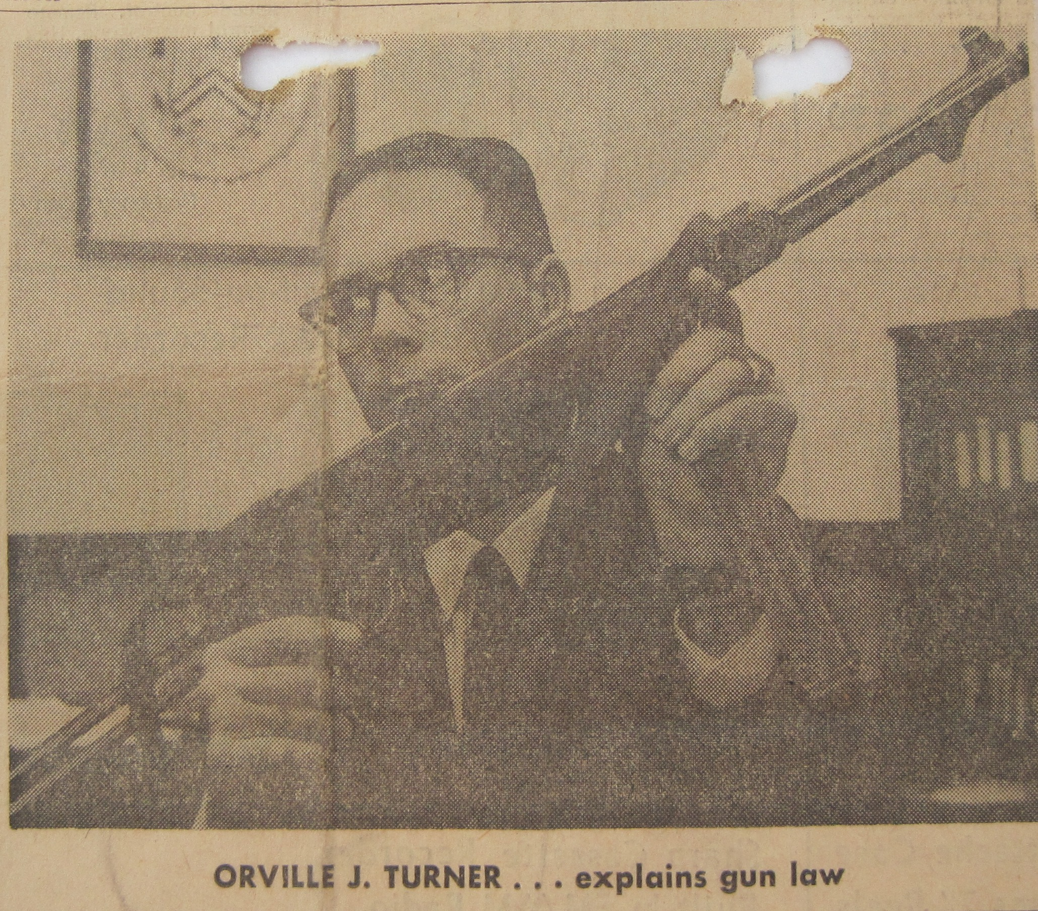 Detroit News , Sunday, November 10, 1968. Assistant Special Agent in Charge Orville J. Turner