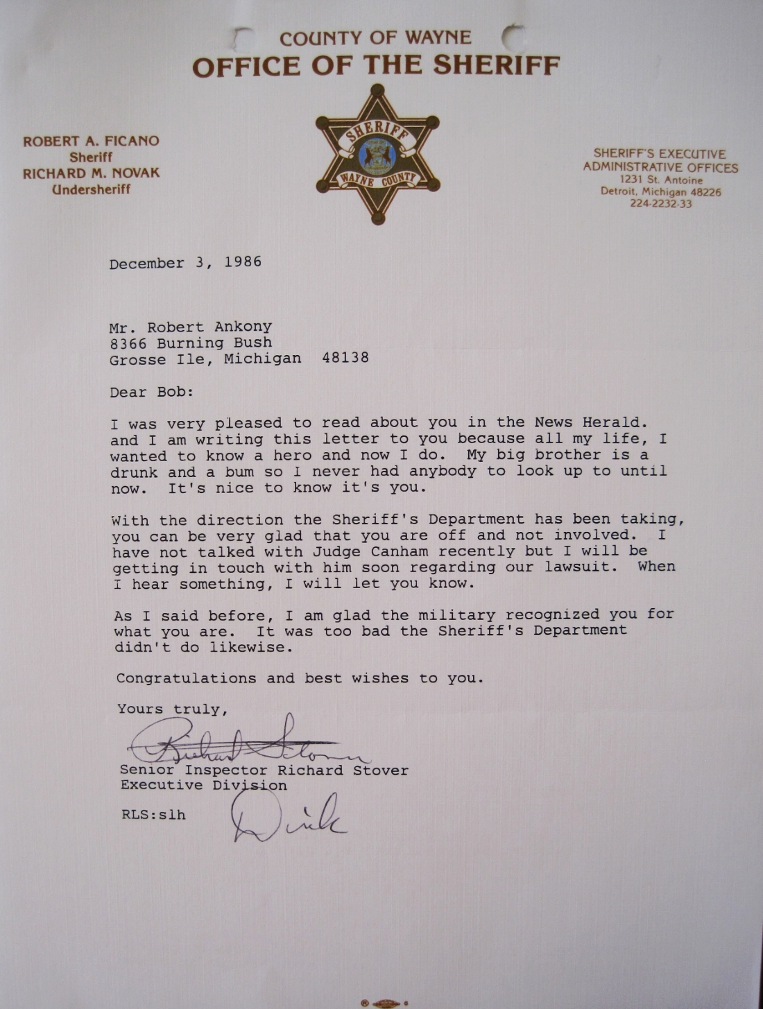 A former commander wrote this when I received my  second Bronze Star  in Washington, DC., in 1986