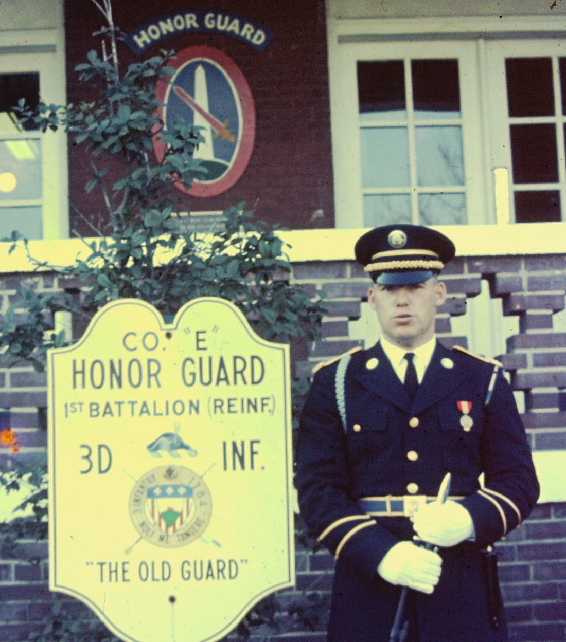 PFC William Carpenter at the Honor Guard barracks, Fort Meyers, Virginia, adjacent to  Arlington National Cemetery