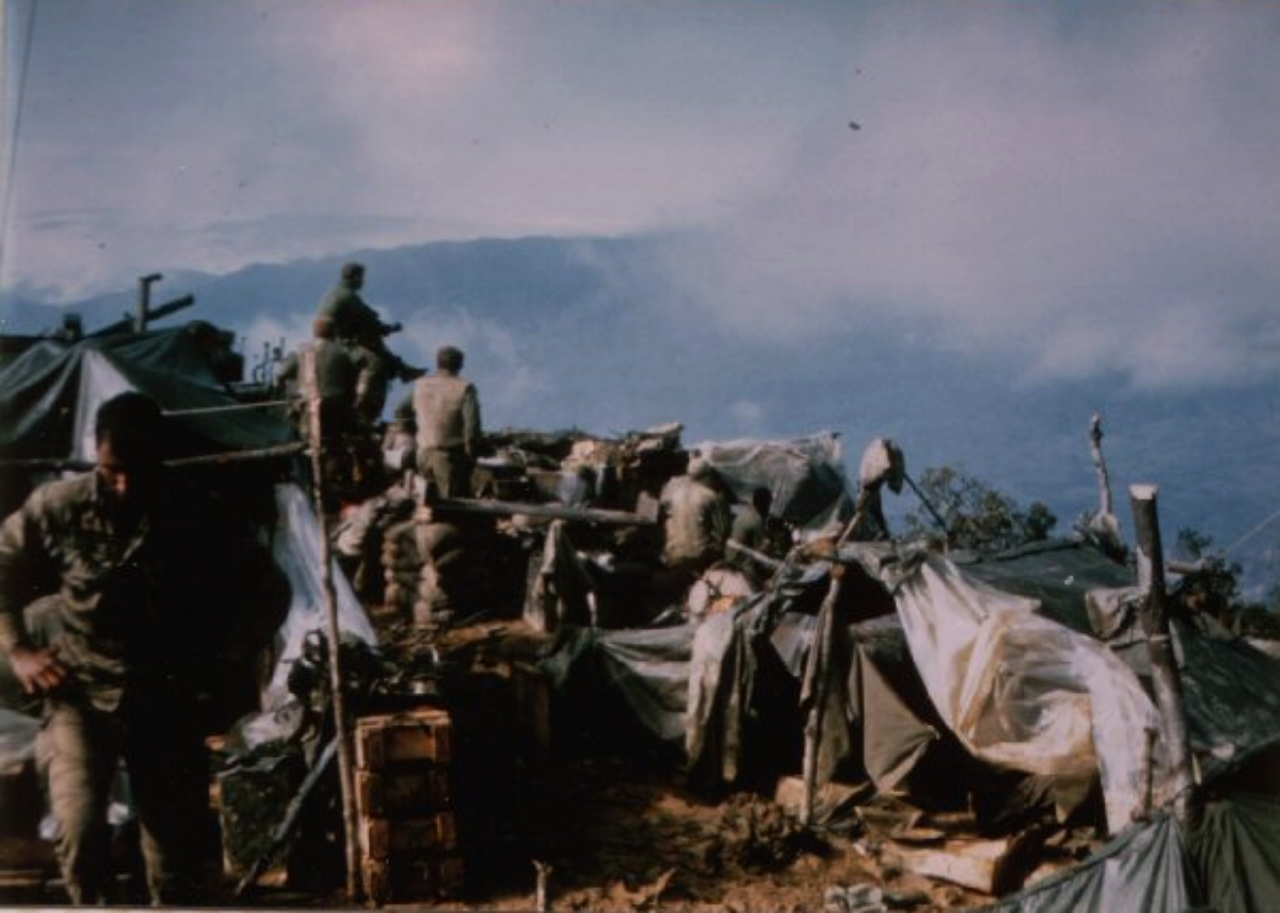 Signal Hill, Cpl. Robert Ankony in foreground