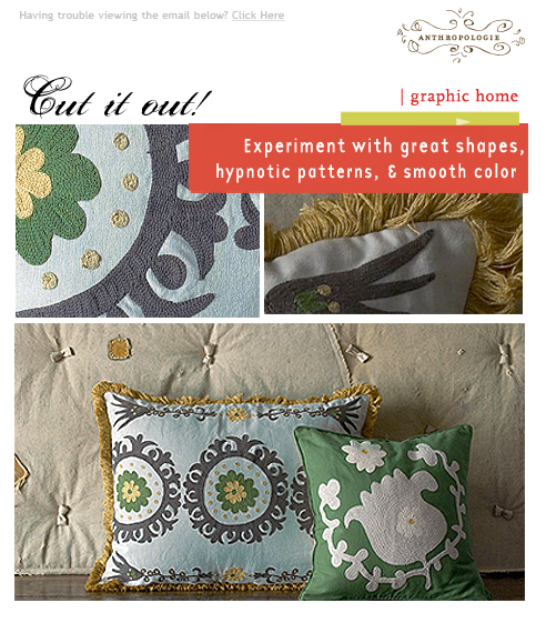 Anthropologie Home Email