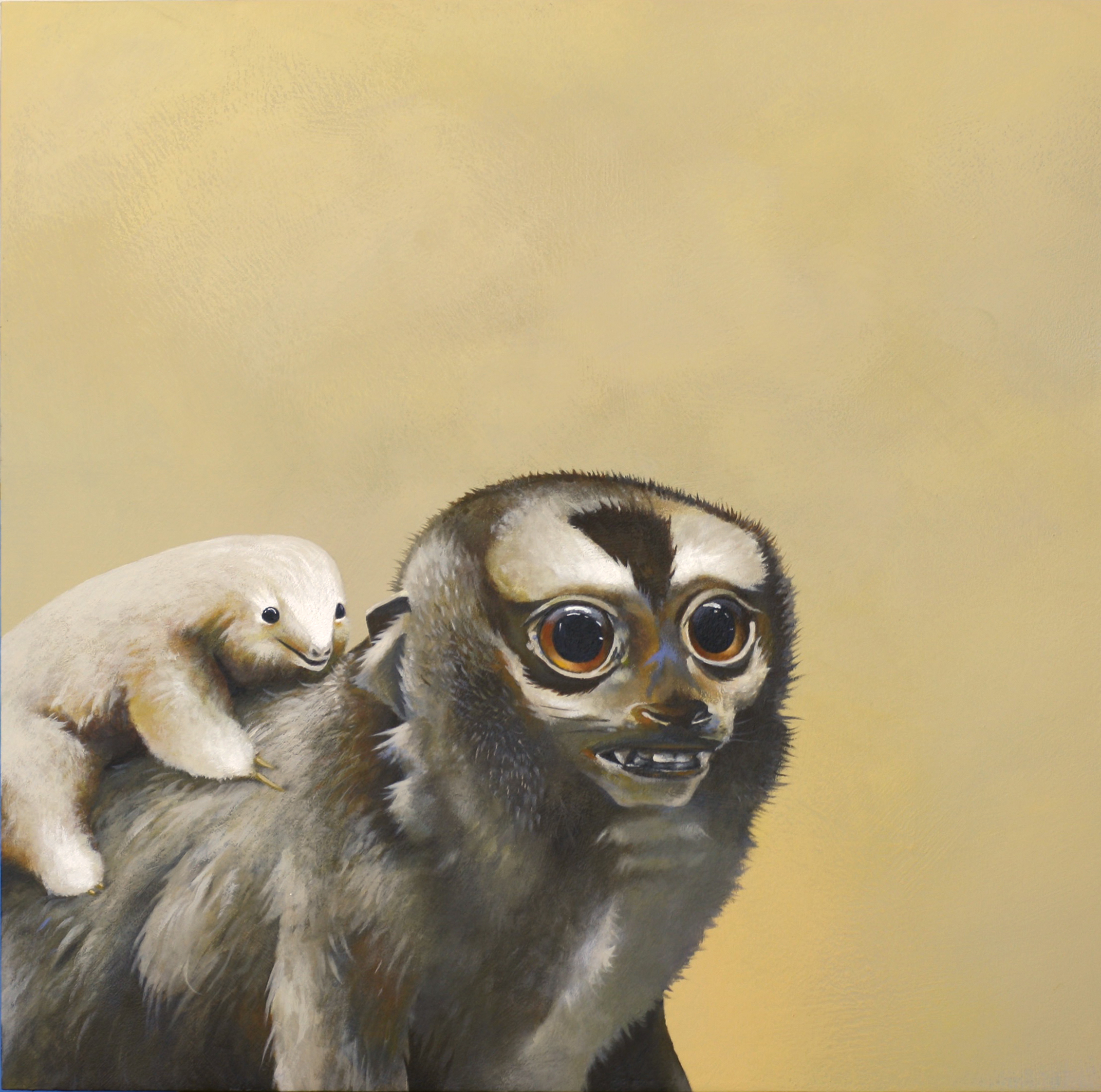 """My painting """"RIDE OR DIE"""" was selected for inclusion in the """"Sweet N Low: An International Show of Cute"""" show at Bedford Gallery in Walnut Creek, CA. The show runs until August 27, 2017. Lots of amazing artists, including Margaret Keane of  Big Eyes  fame. For inquires, contact the gallery at koppes@bedfordgallery.com. More info about the show can be found on the  Bedford Gallery website ."""