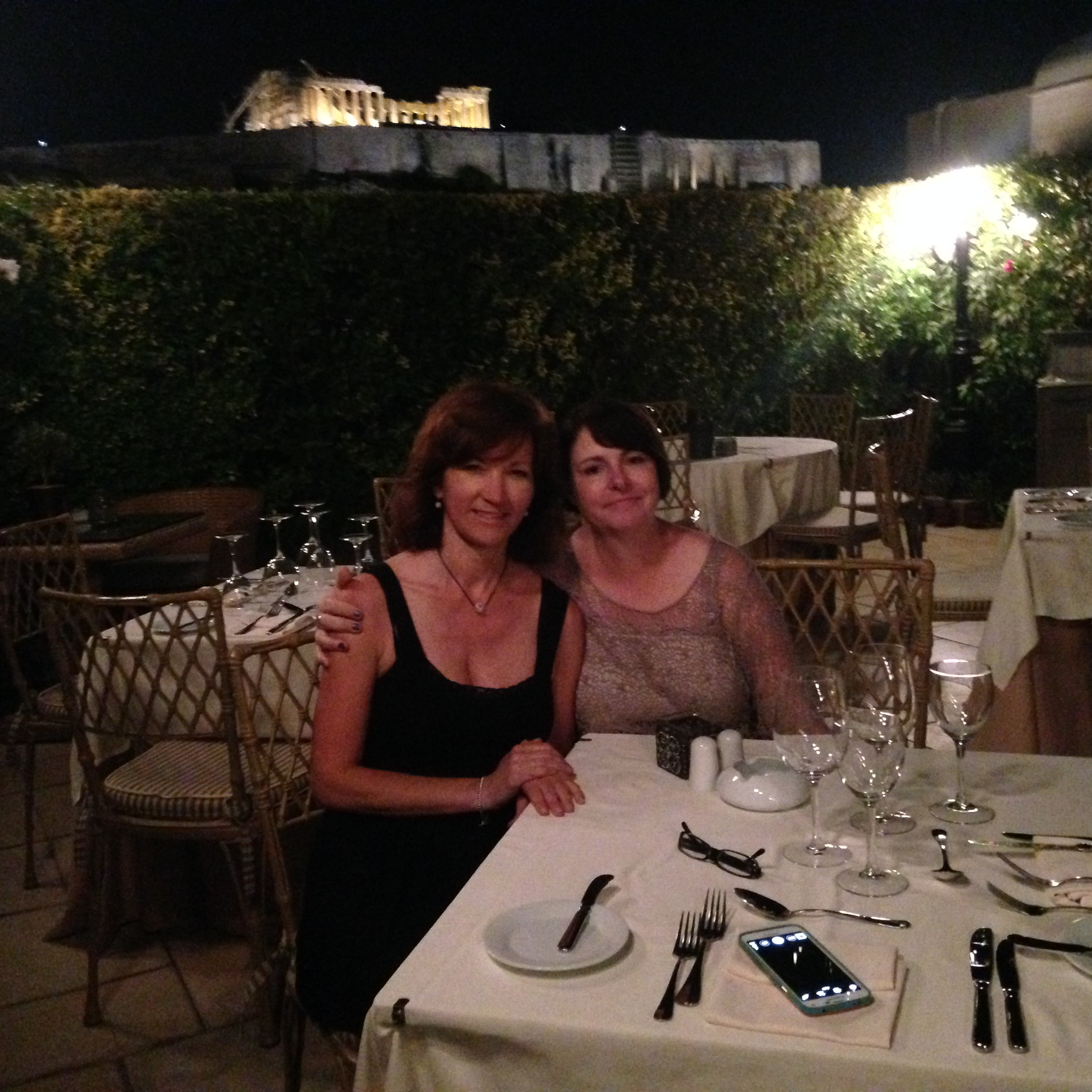 Shortly after checking in to our hotel in Athens. This is the rooftop terrace at our hotel. We were not prepared for the iconic view or being able able to hear the concert performing at the Herodes Atticus open air theatre, outside the Acropolis.