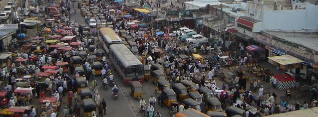 Street scene in Hyderabad, India