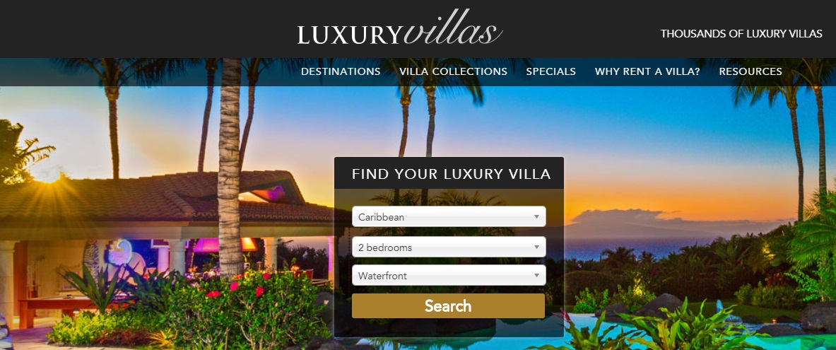 Click the picture above to access information on thousands of villas around the world!