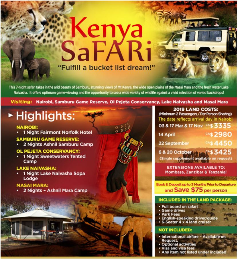 Small Group Safari's - supplier terms & conditions apply.
