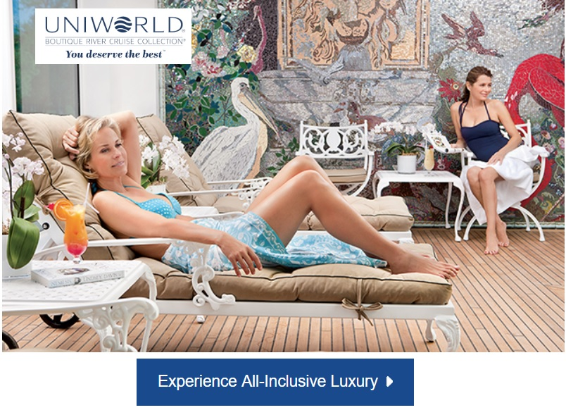 Uniworld elevates all-inclusive river cruising in Europe to an entirely new level. They believe their guests deserve the absolute best of everything and the   difference is truly in the details  .  Make your next Uniworld River Cruise a   Hosted Departure Cruise   and you'll receive a unique shore experience, plus up to $150 shipboard credits!  * Uniworld terms & conditions apply