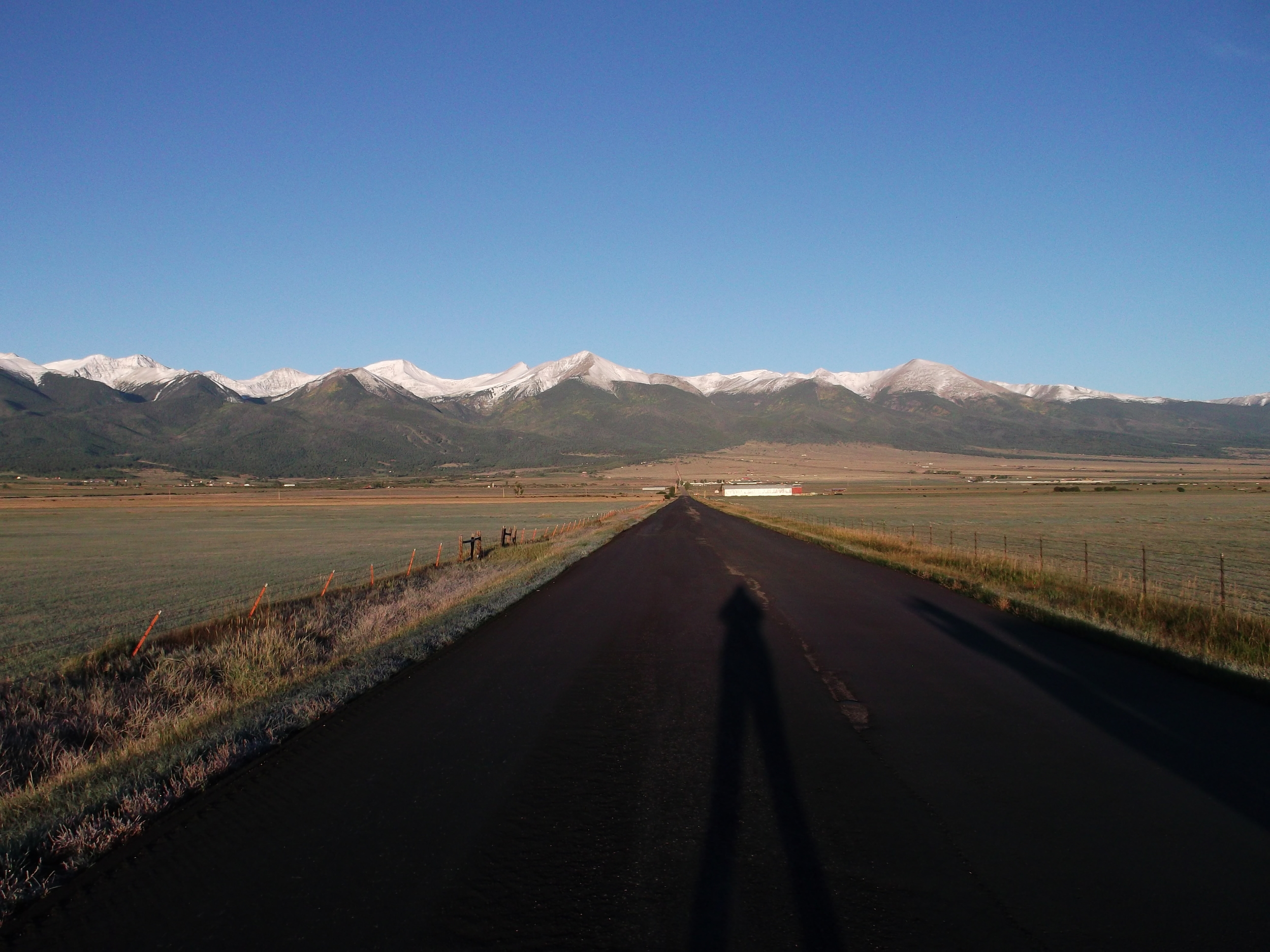 Casting a long shadow way out in the boondocks in Westcliffe, Colorado. (Small towns being another place I would not personally choose for study locations)