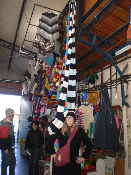 I was challenged to find the most ridiculous hat in Chile. I succeeded.