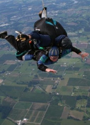 That's me, skydiving one week after my undergraduate thesis defense, and one week before graduation.