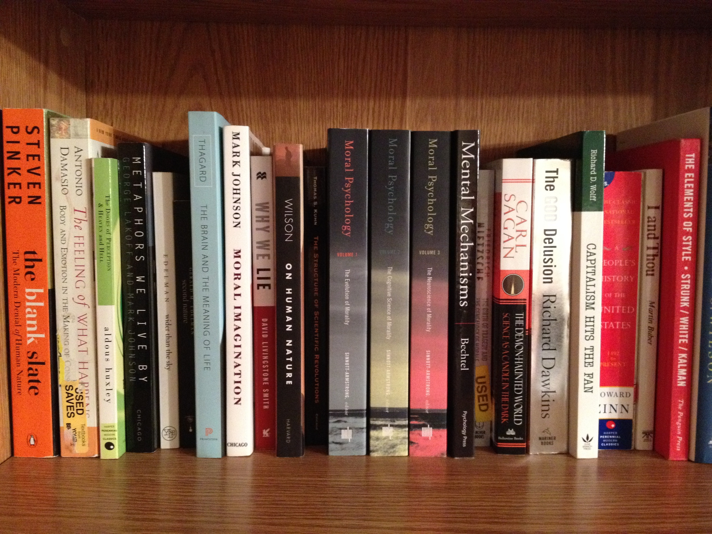 "Goals in the New Year? How about a shelf of philosophy ""to be read"" brought to you by  Miles Raymer"