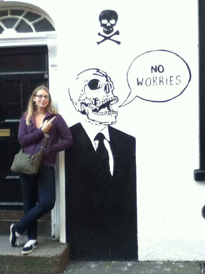 New semester jitters? No worries! The syllabus will guide your way. (Photo with Dublin street art fall 2012)