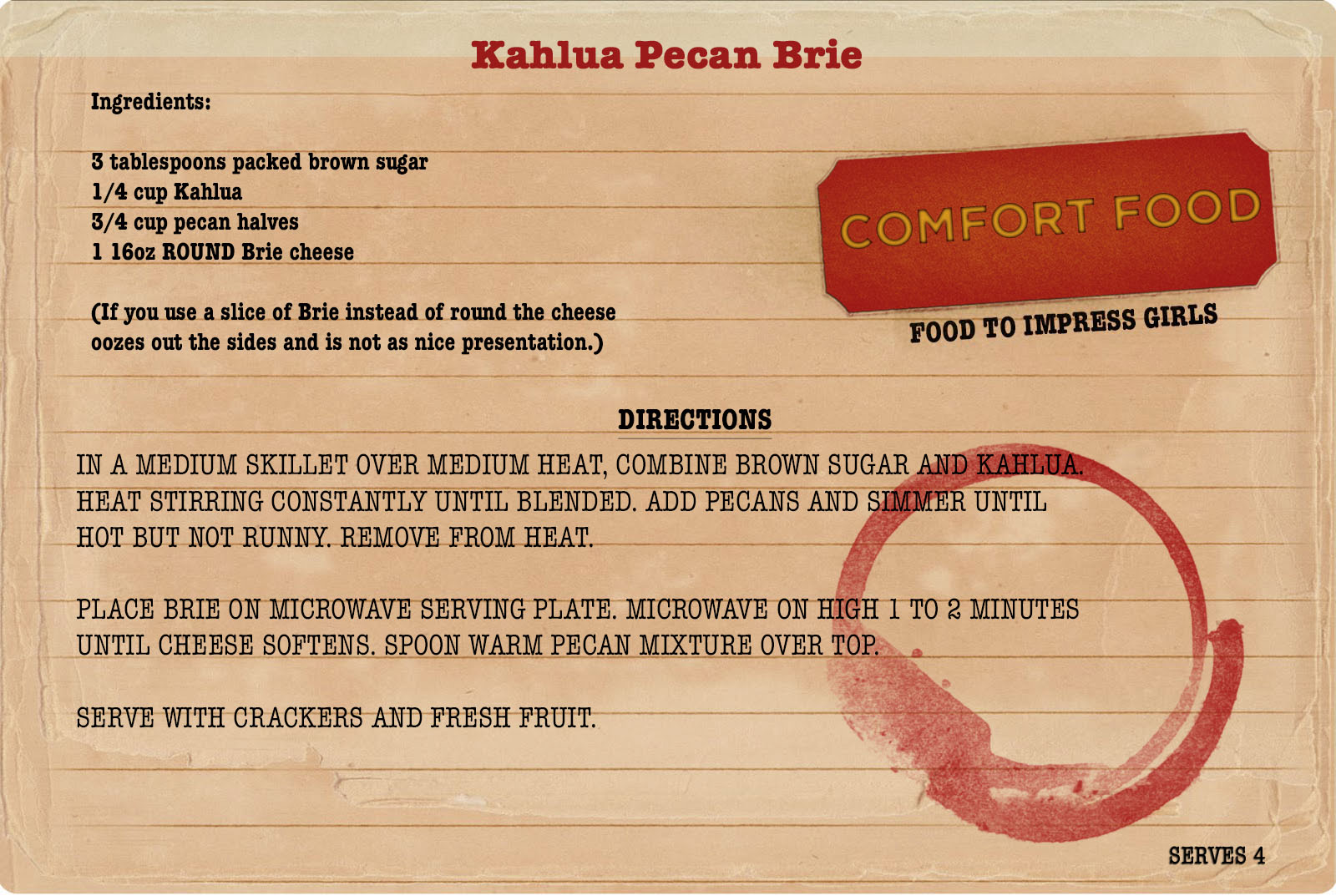 Sunday Dinners recipe: Kahlua and pecan brie.jpg