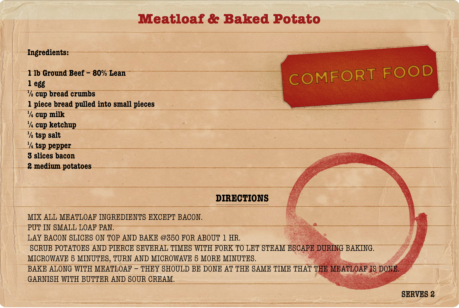 Sunday Dinners Meatloaf