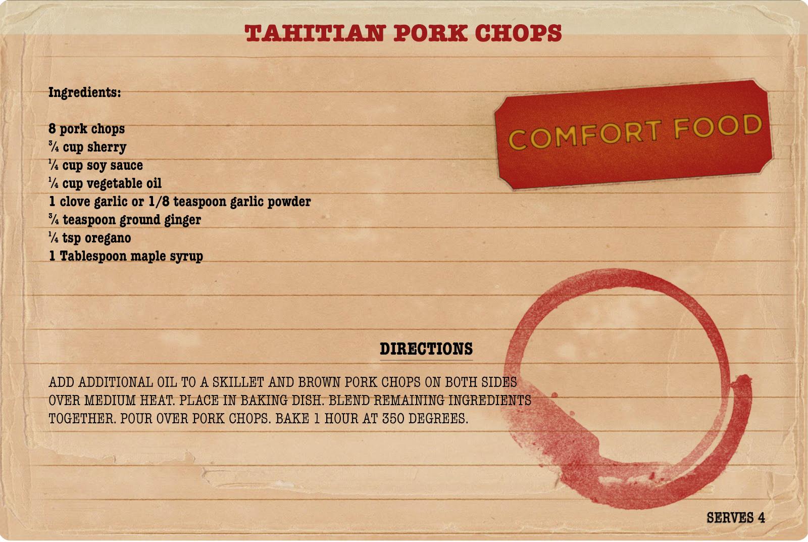 Sunday Dinners Tahitian Pork