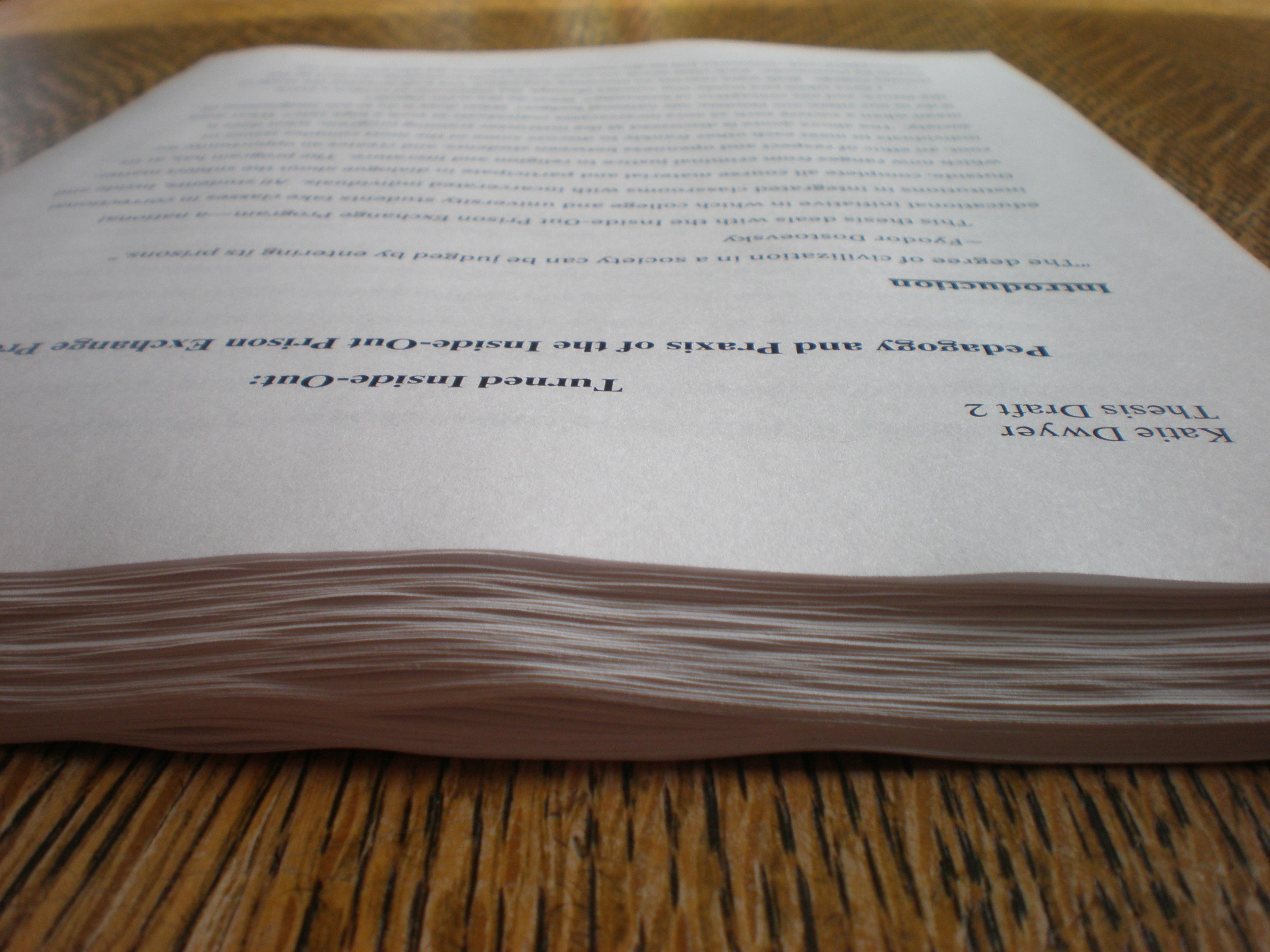 write undergraduate thesis