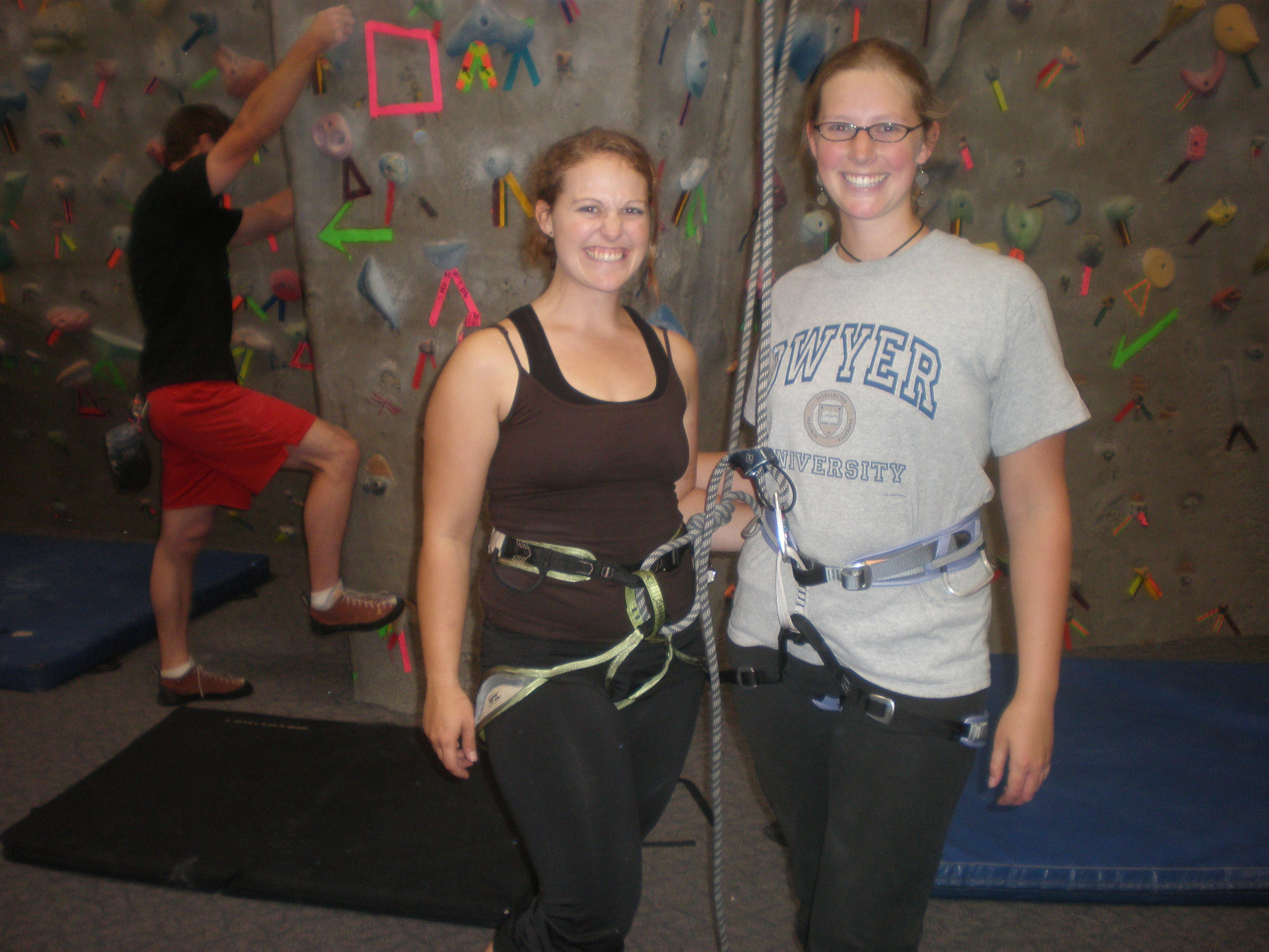 I met my roommate for senior year in a rock climbing class. It was a great start to a really fun living situation.