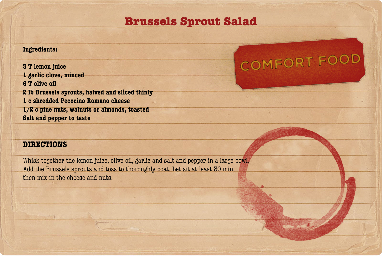 My College Advice Sunday Dinners Brussels Sprout Salad