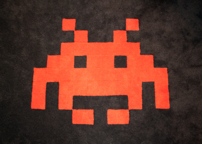 Space invader custom carpets! (Cough cough, I mean space alien for legal purposes.)
