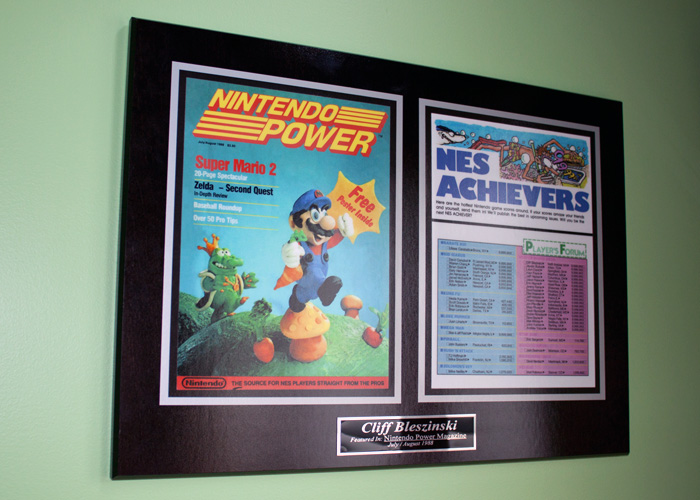 Clifford made it into Nintendo Power's first addition when he got best score in Mario.