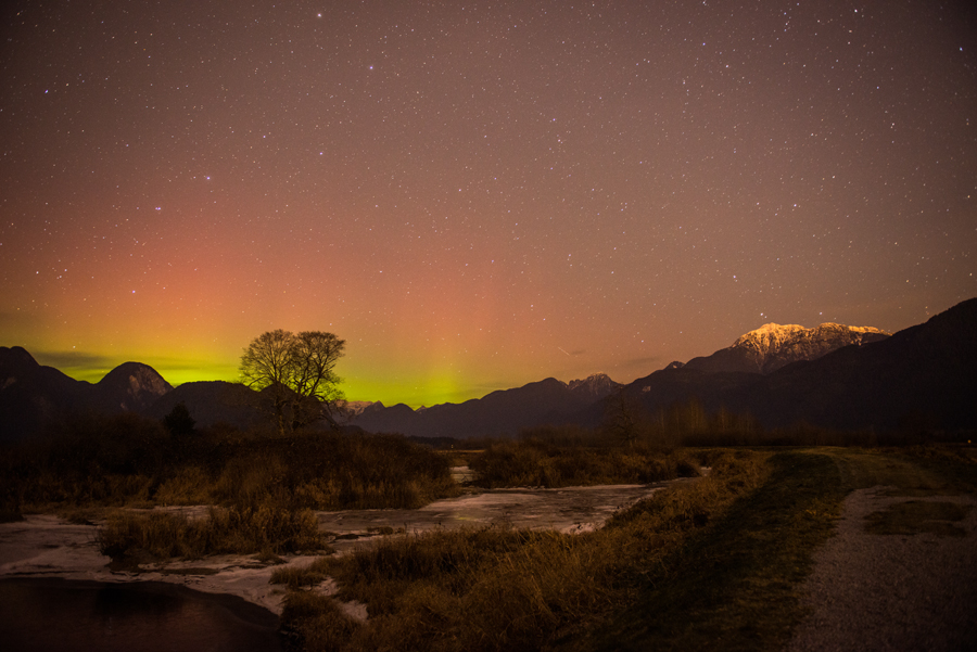 Freezing Aurora. Pitt Meadows, British Columbia.