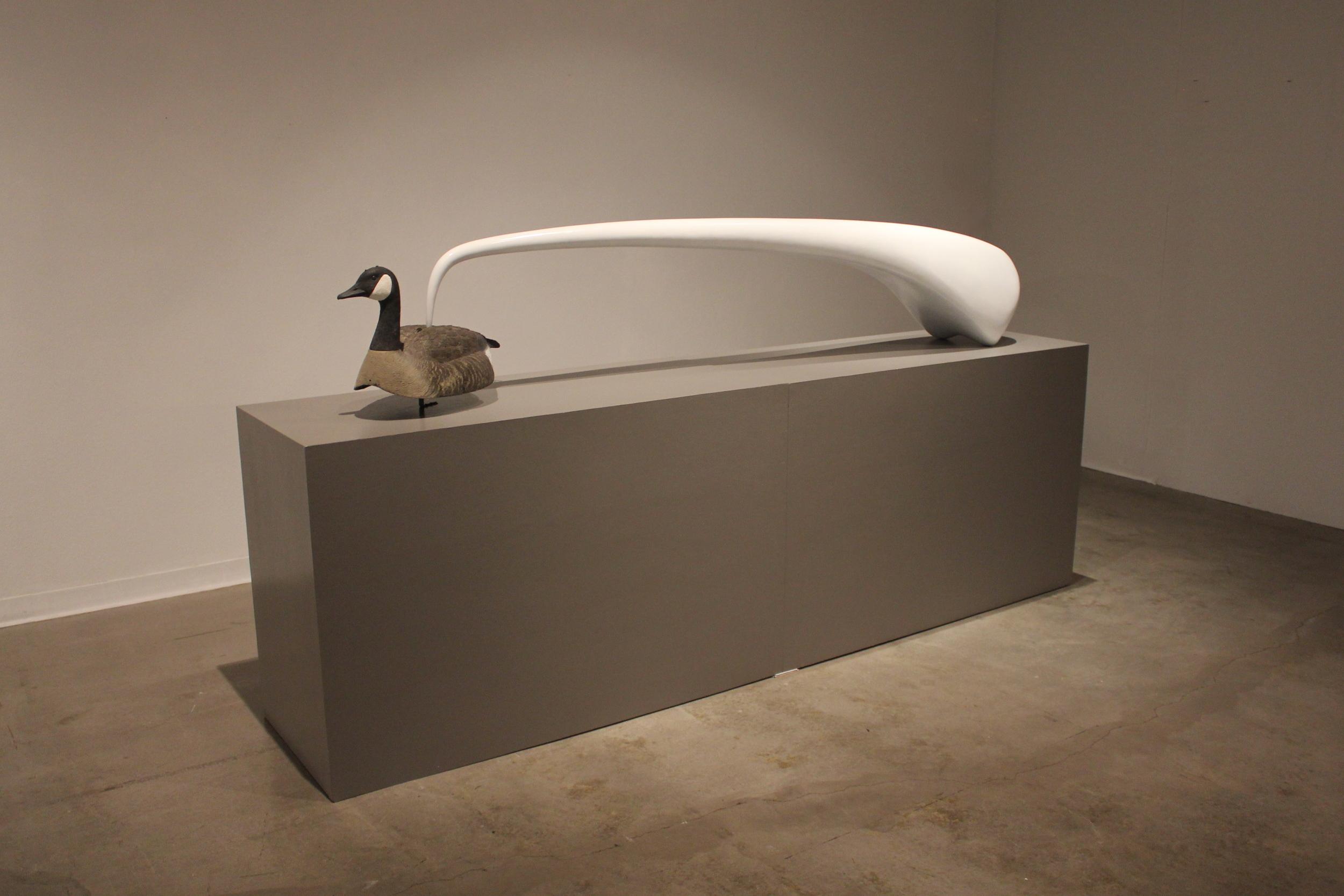 Companion: Goose. 2011. Fiberglass, wood, paint, found decoy.