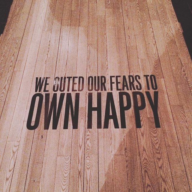 Sometimes fear is a key component for happiness to unfold. #wetapin #outfear #ownhappy