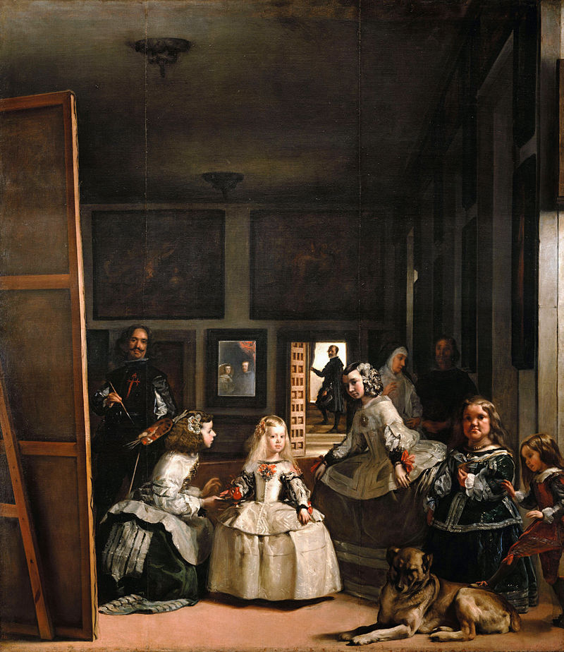 "Diego Velazquez,  Las Meninas   (The Maids of Honor) , 1656.  Oil on canvas, 10'5"" x 9'.  Museao del Prado, Madrid."