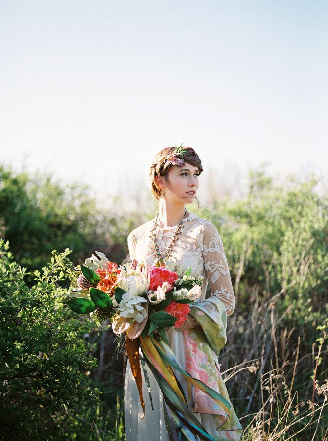 Silk Bridal Scarf