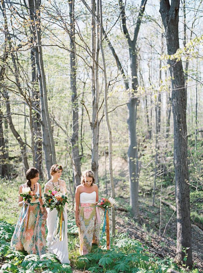 Custom Bridesmaid Silk Wrap Skirts