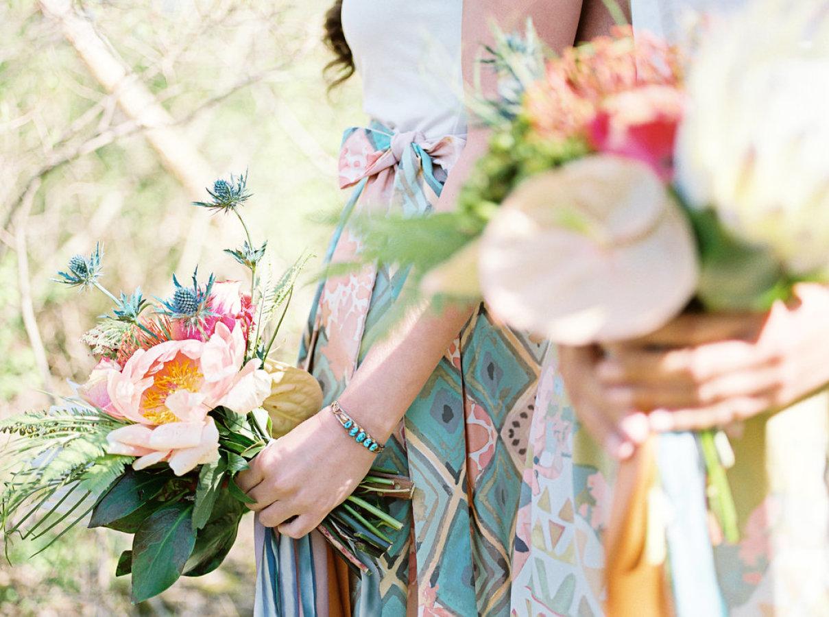 Bridesmaid Silk Wrap Skirts