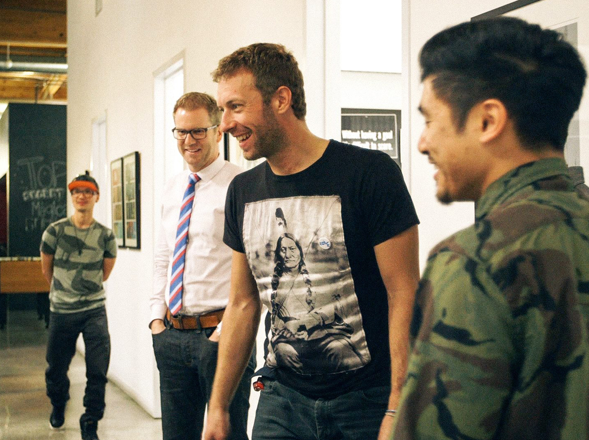 """Collaborating with Coldplay on our interactive music video """"Ink""""."""