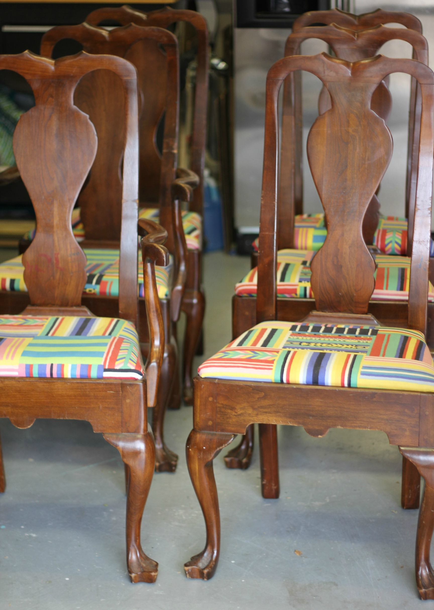 {Queen Anne Chairs Before}