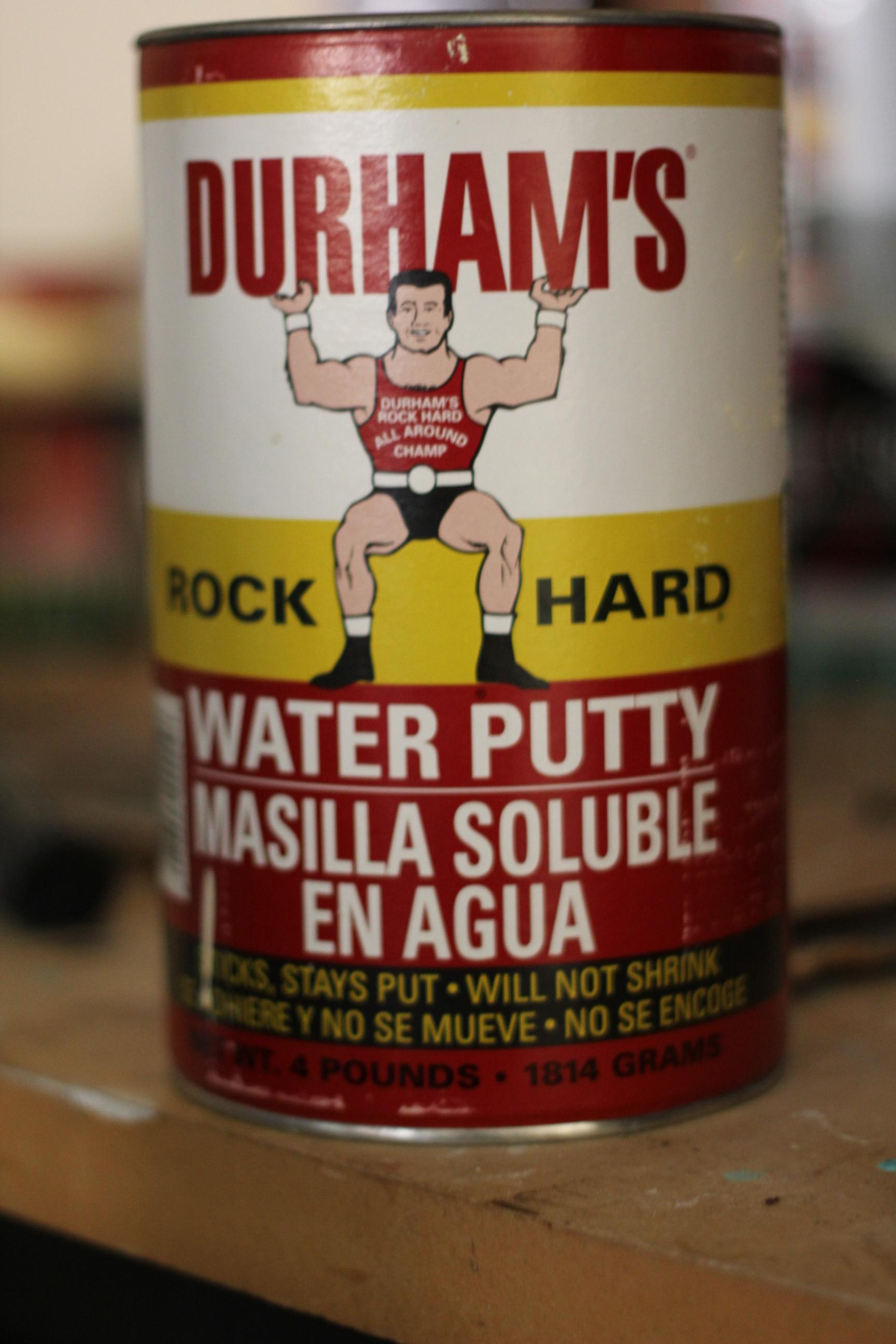 Durham's Rock Hard Putty is my secret weapon.