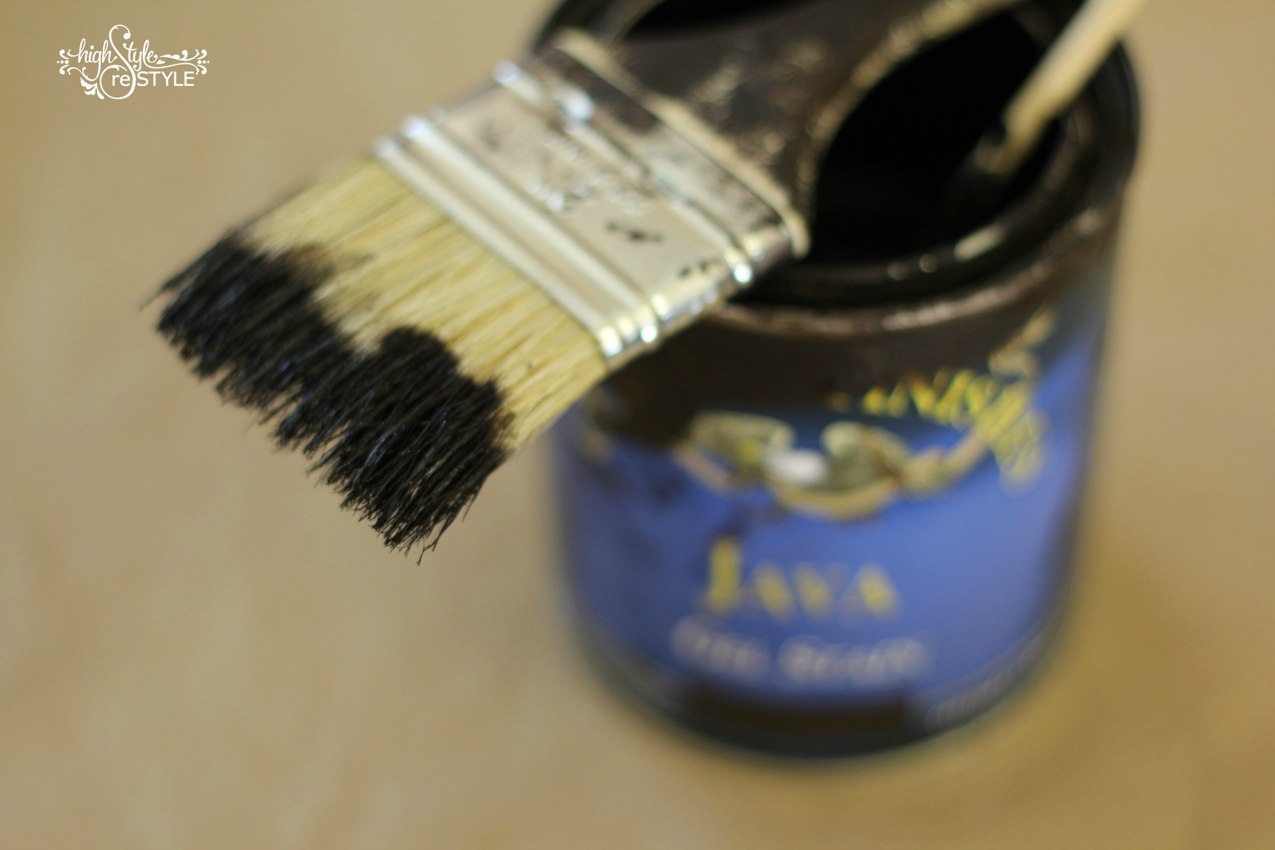 Dip your brush about one-third to bottom of ferrule.