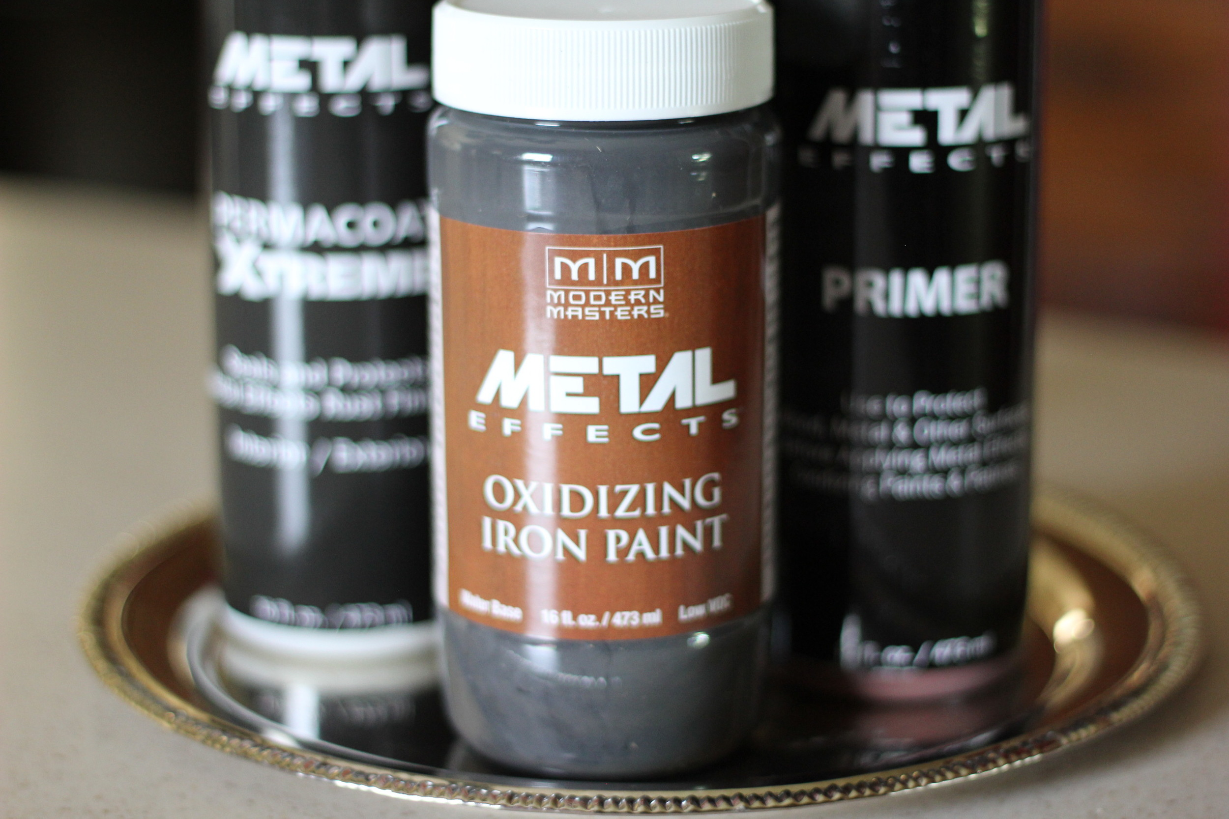 Modern Masters Metal Effects {Primer, Iron Paint, Activator & Permacoat}