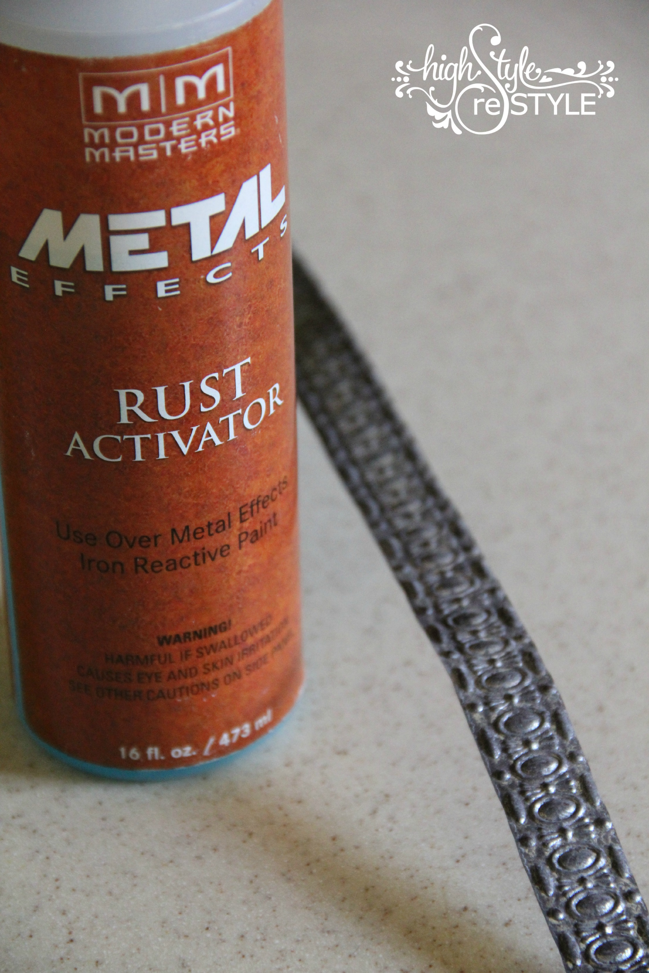 GALVANIZED TO PERFECTION WITH MODERN MASTERS RUST ACTIVATOR