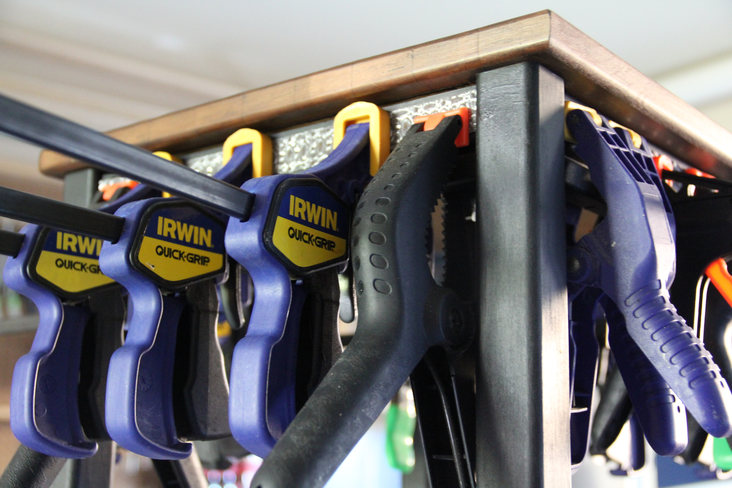 NOW, THAT'S A COLLECTION OF CLAMPS!
