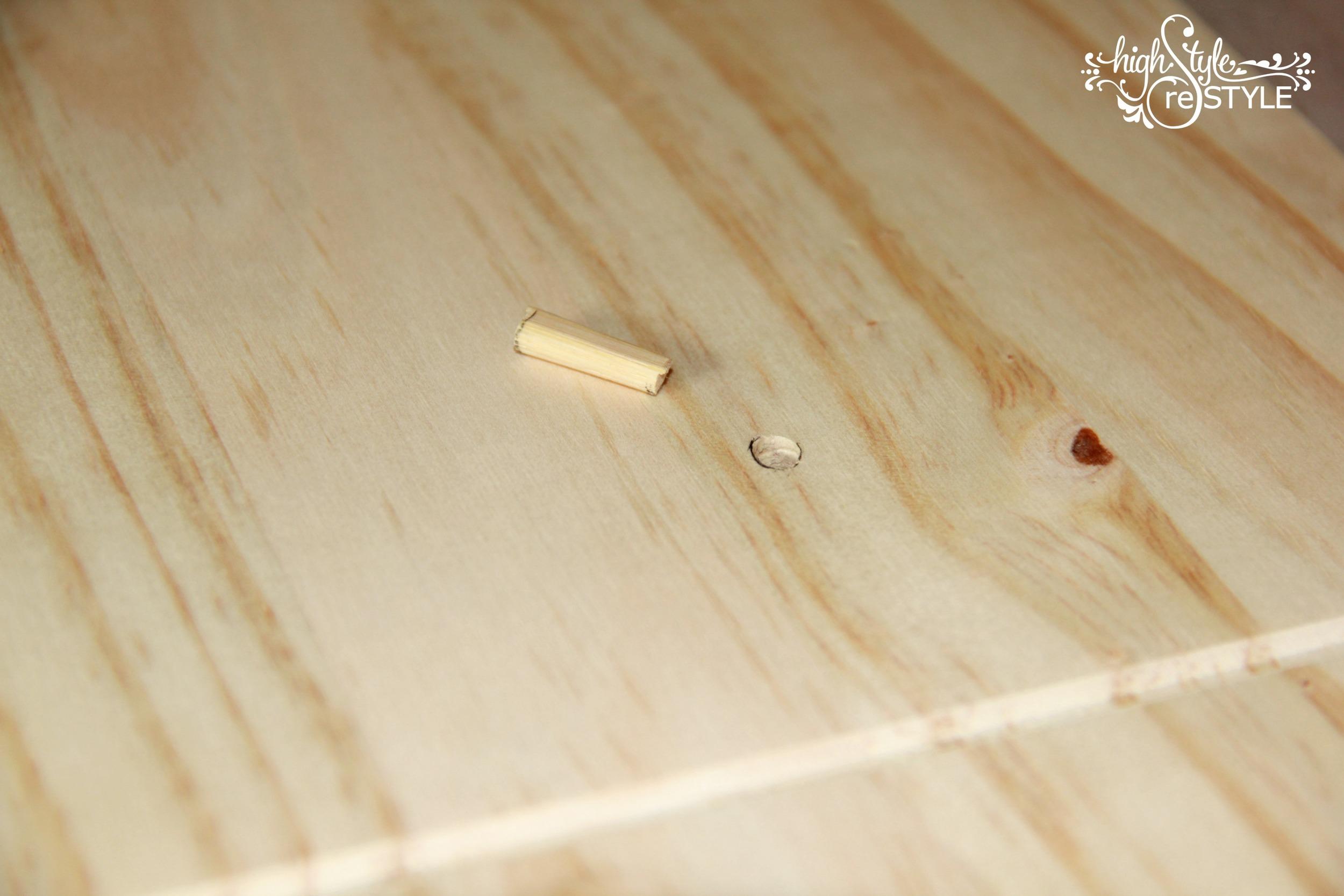 Cut chopstick to fill drawer knob holes on IKEA Rast.jpg