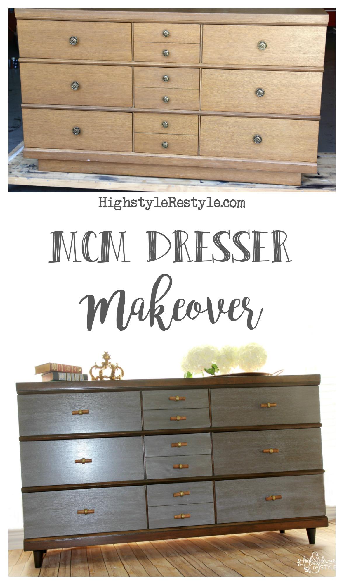 Mid Century Modern Dresser Makeover Highstyle Restyle