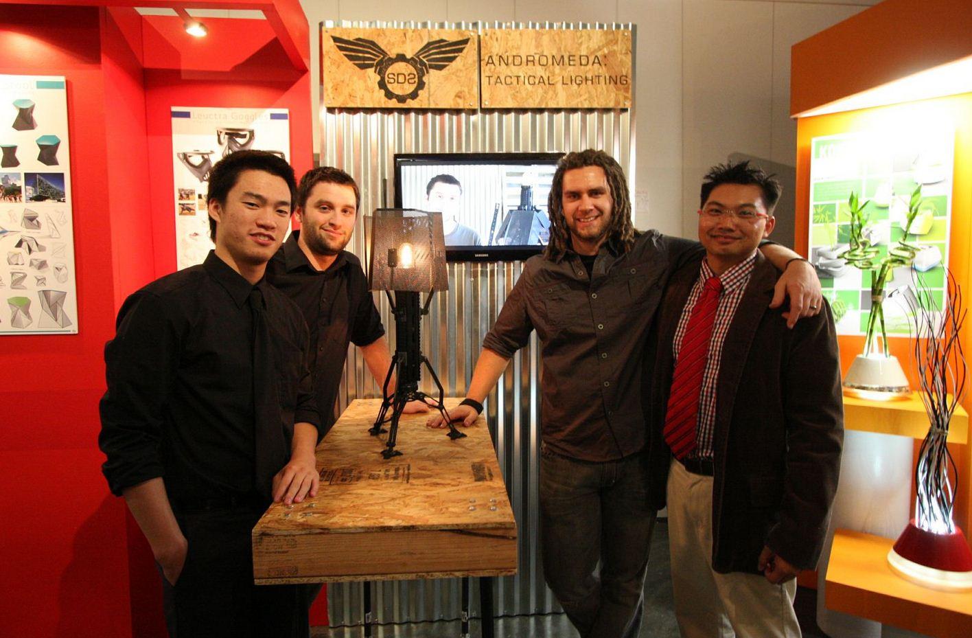 (From Left to Right;  Felix Tsoi ,  Mason Rinehart , Jake Barney , & Vinh Phamdo )