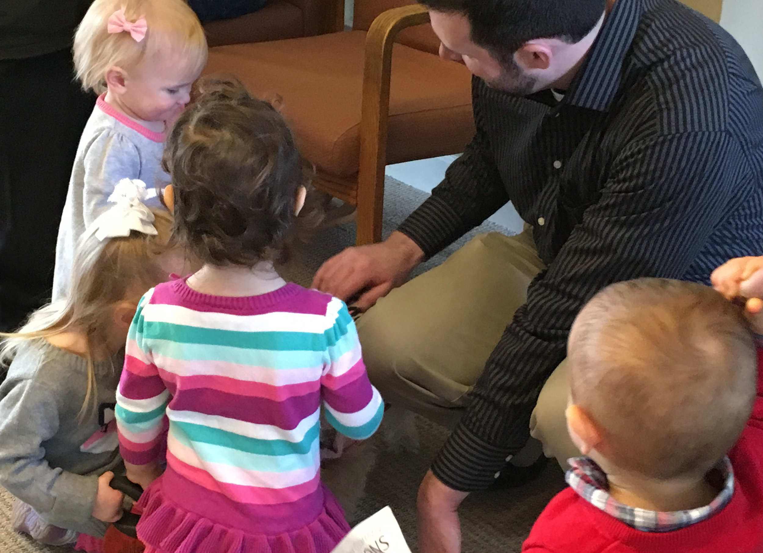 Little children are welcome in Sunday School at First Church of Christ, Scientist in Glen Ellyn, IL