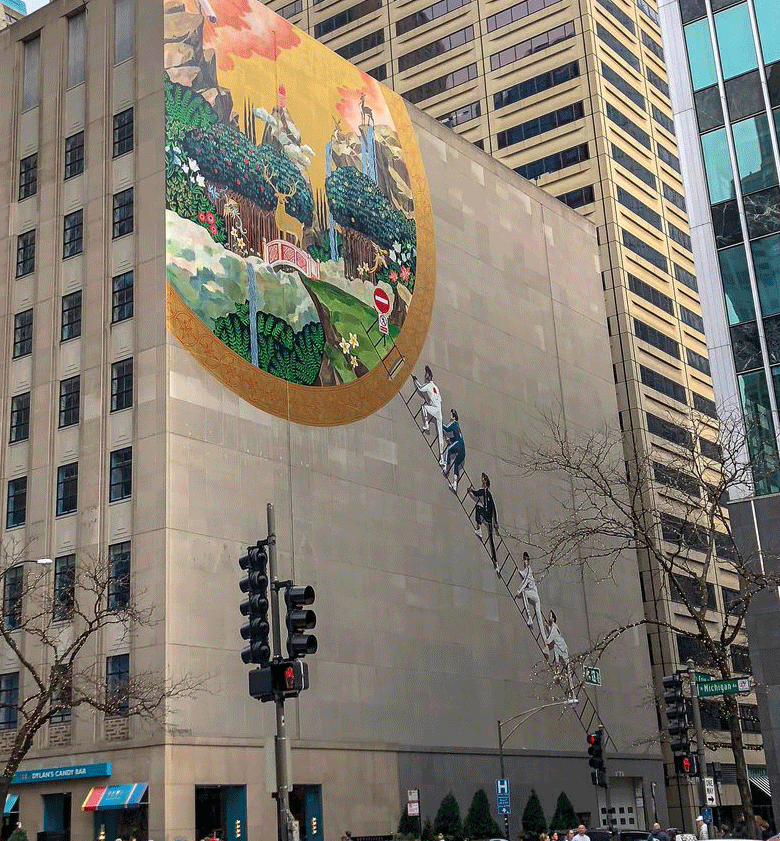 Chicago mural by Ignasi Monreal