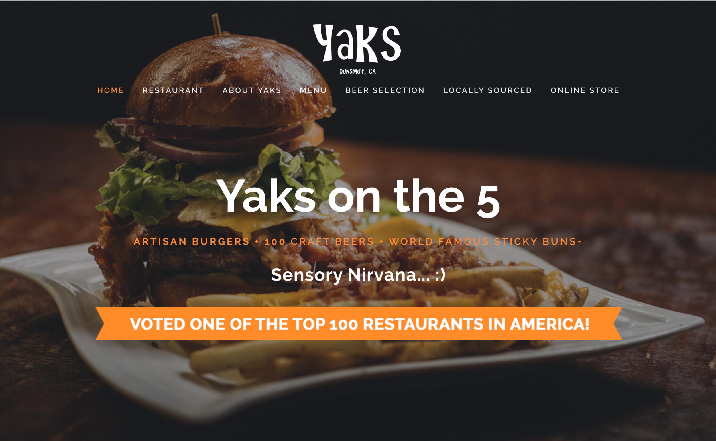 Yaks homepage