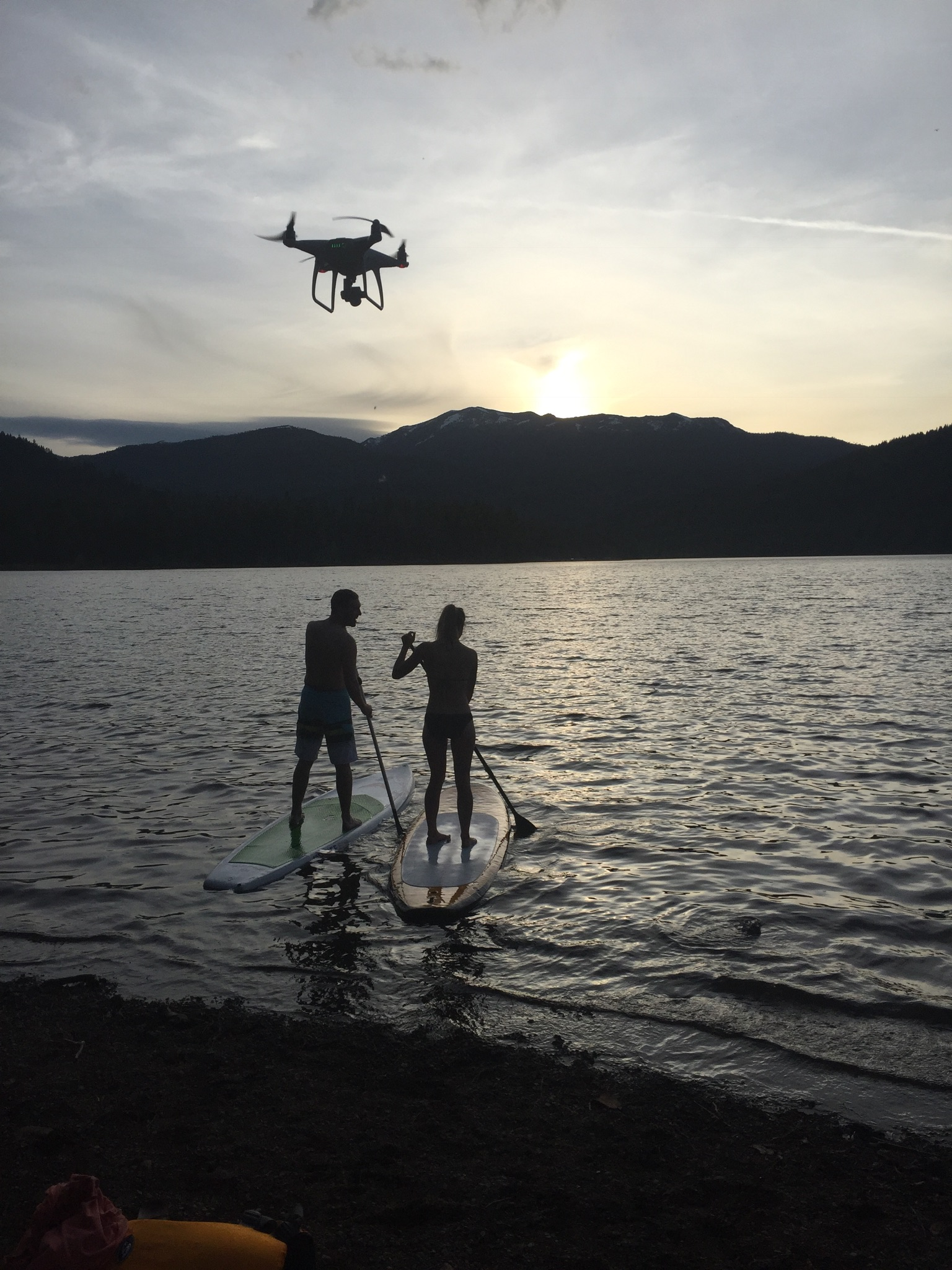 Lake Siskiyou Shoot. First time knowing what it's like having a drone following me. It sounds like a swarm of bees.