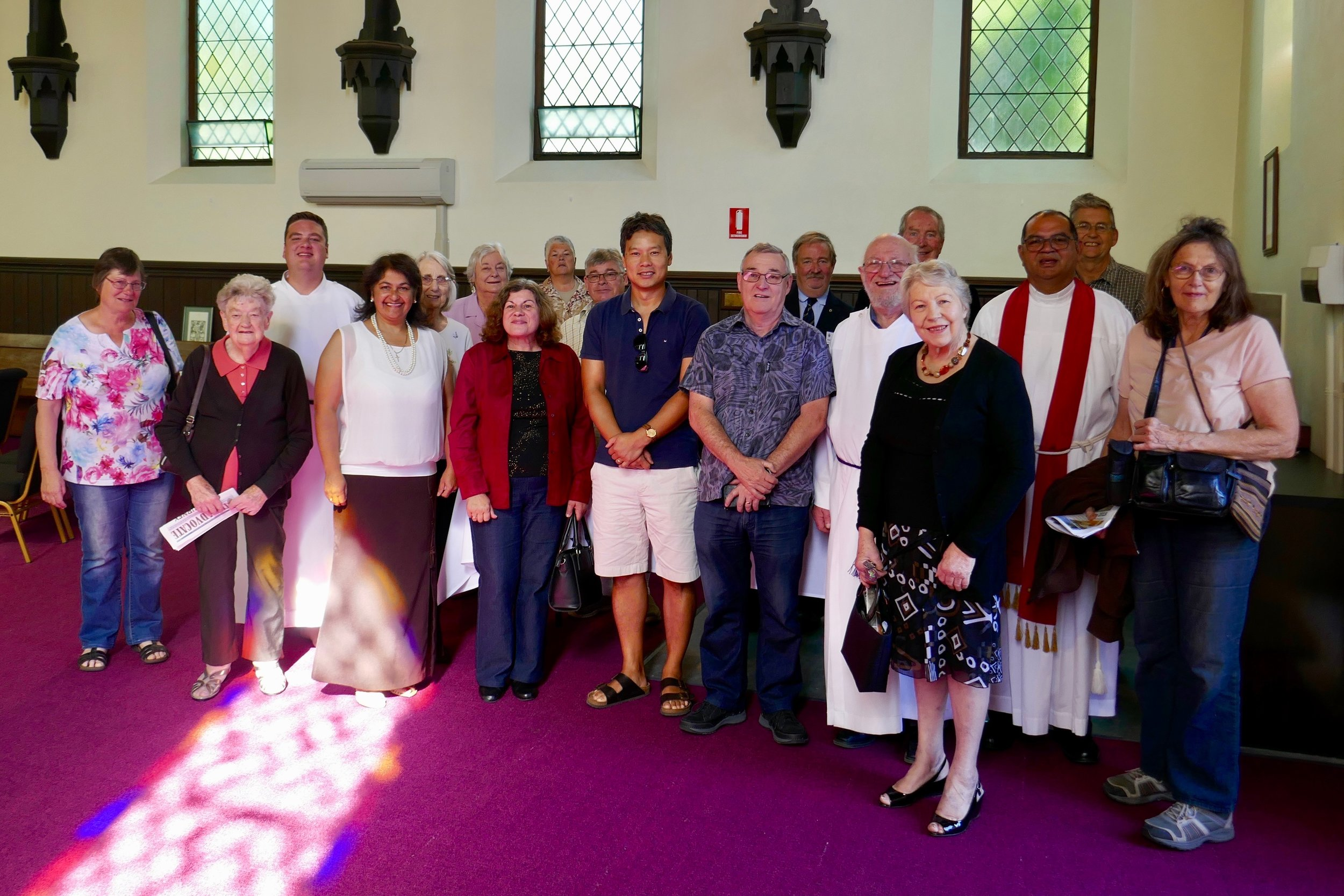 Members from the Melbourne Focolare group with Fr André and parishioners at Christ Church