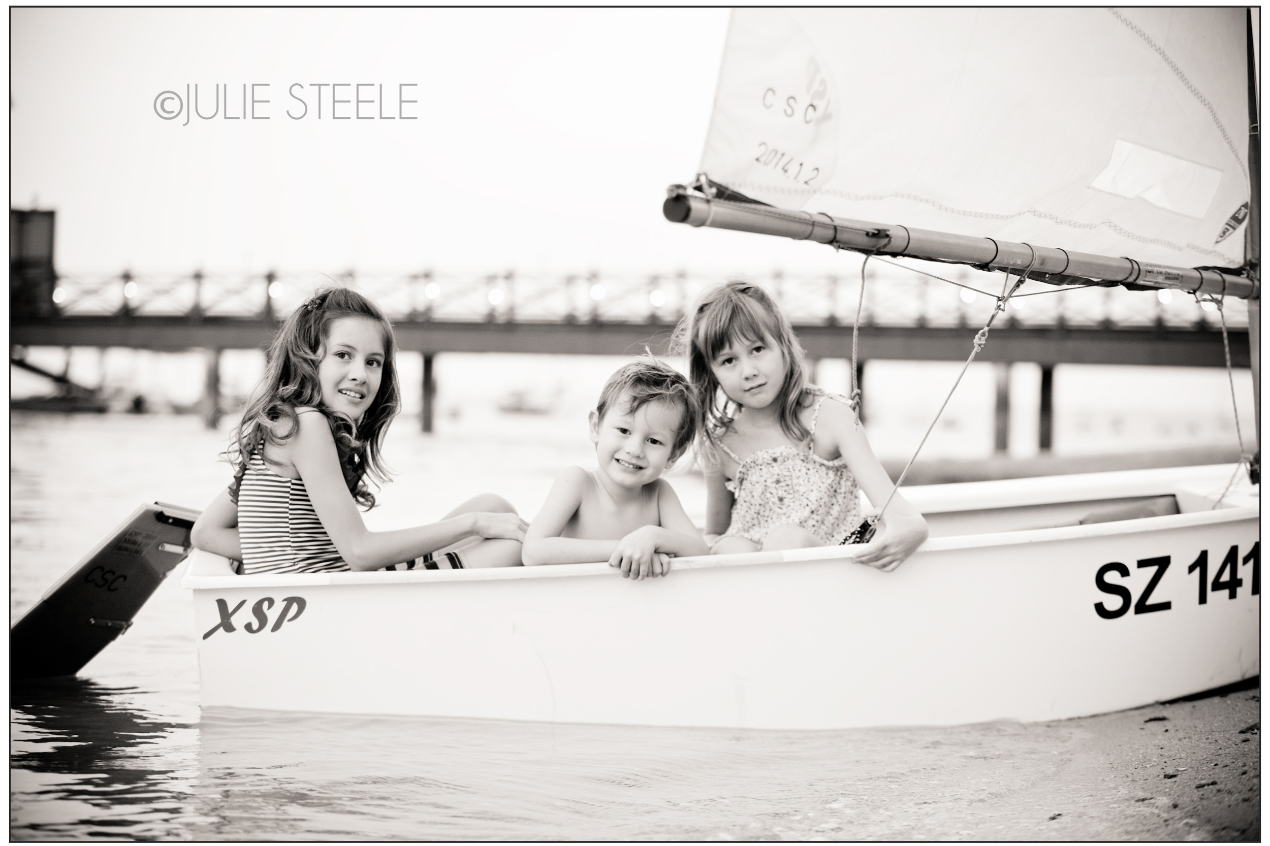 sailing themed family portraits