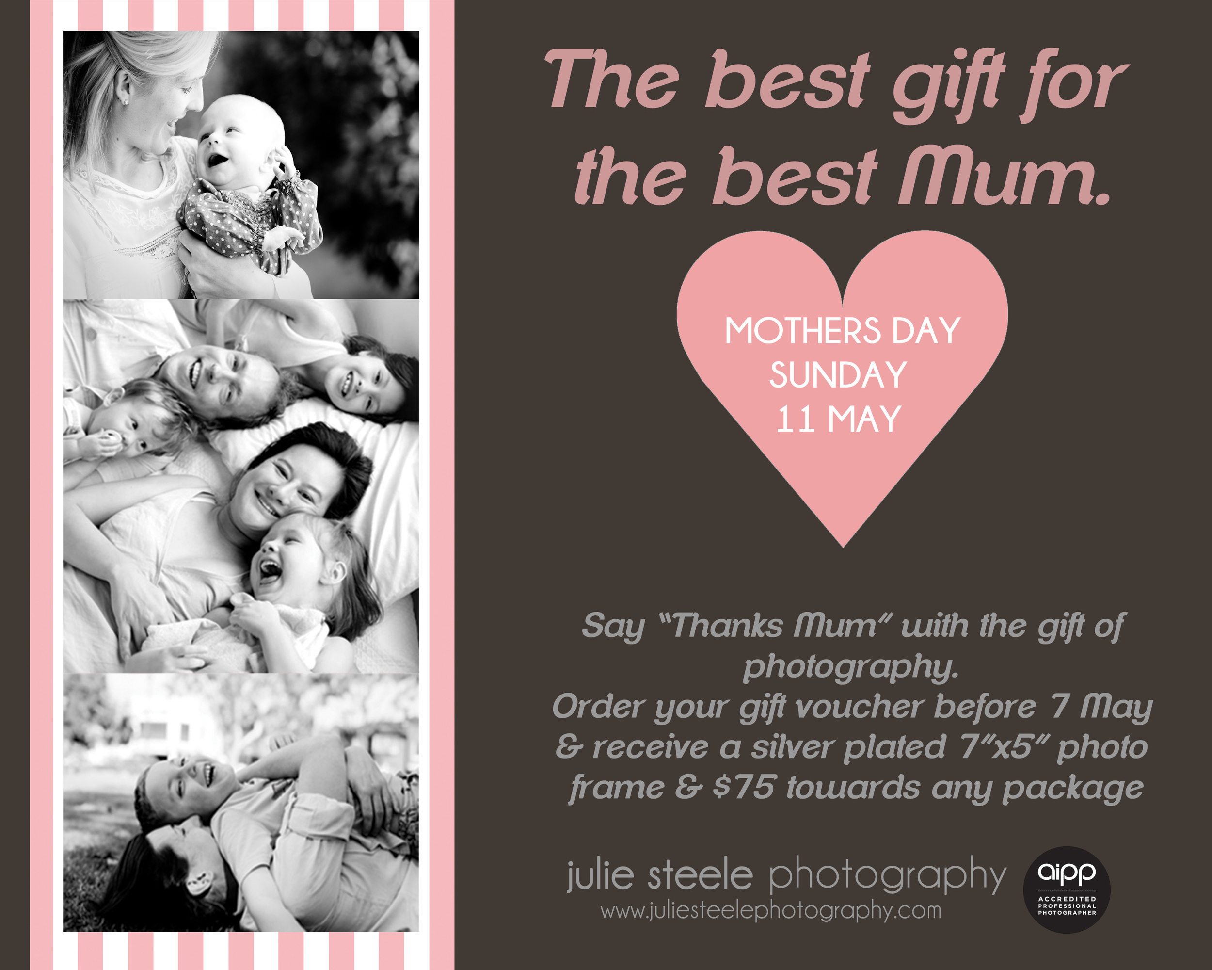 Mother's Day photography gift voucher